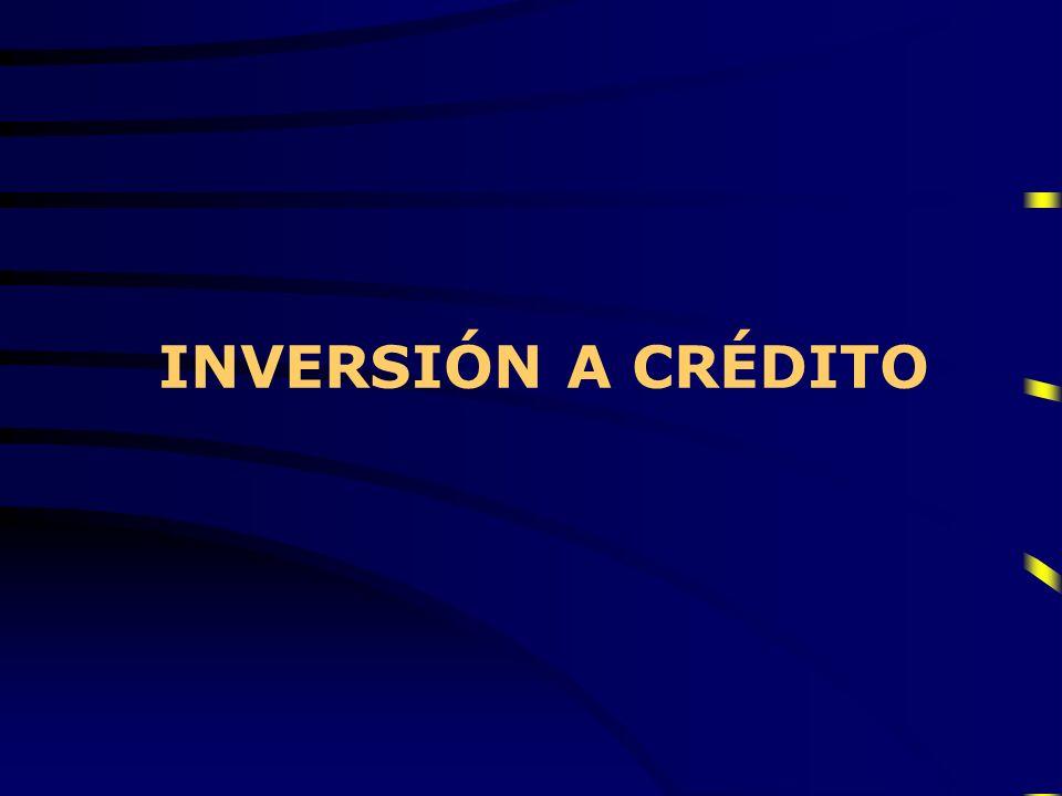 INVERSIÓN A CRÉDITO