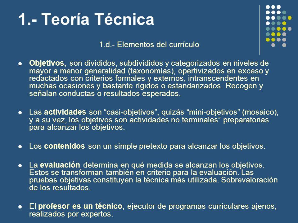 1.d.- Elementos del currículo