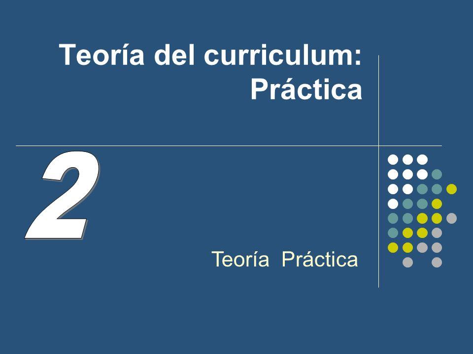 Teoría del curriculum: Práctica