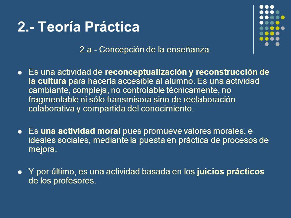 2.a.- Concepción de la enseñanza.