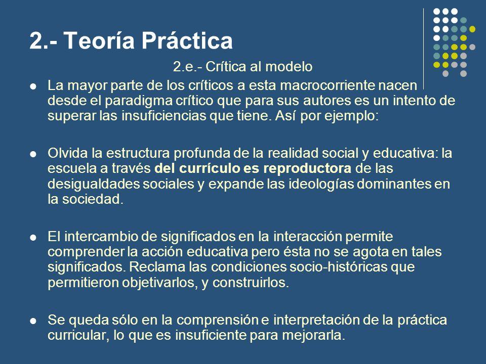 2.- Teoría Práctica 2.e.- Crítica al modelo
