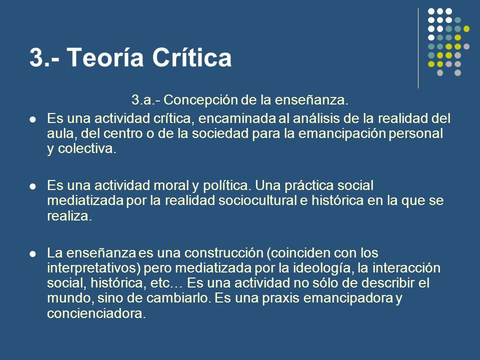 3.a.- Concepción de la enseñanza.