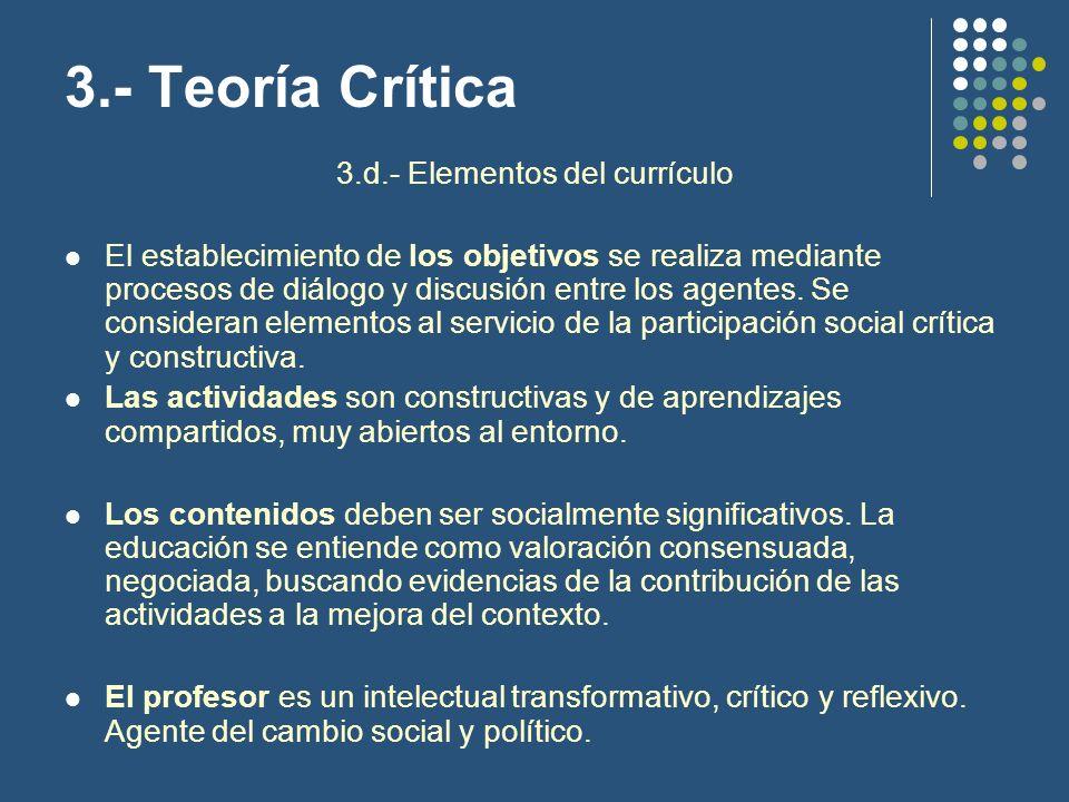 3.d.- Elementos del currículo