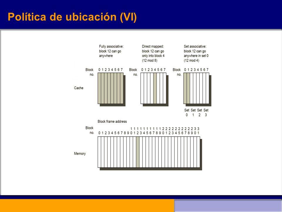 Política de ubicación (VI)