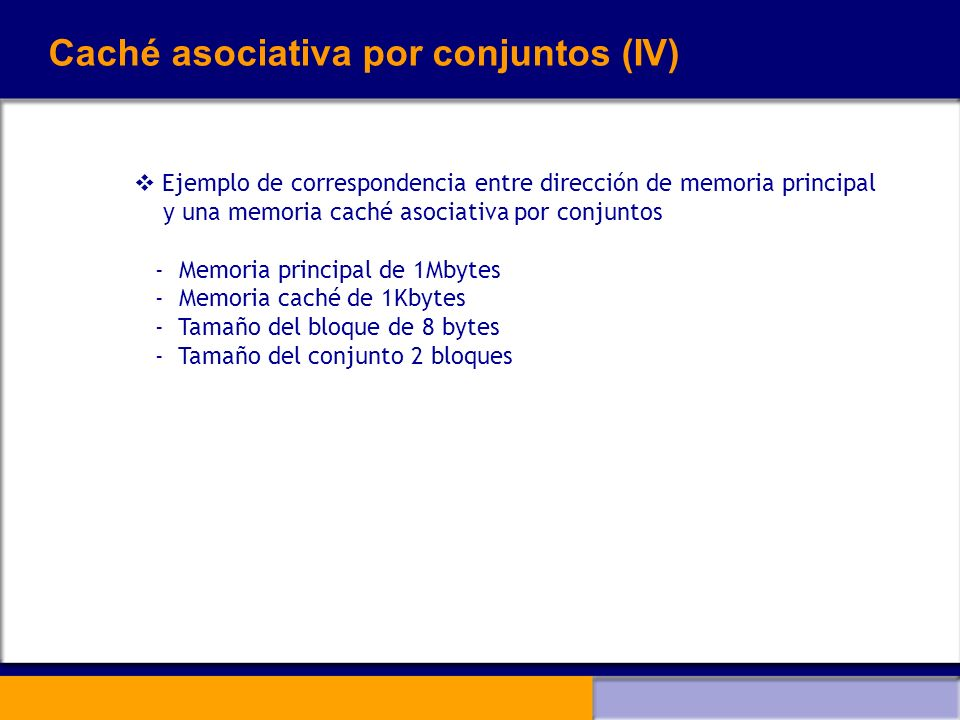Caché asociativa por conjuntos (IV)