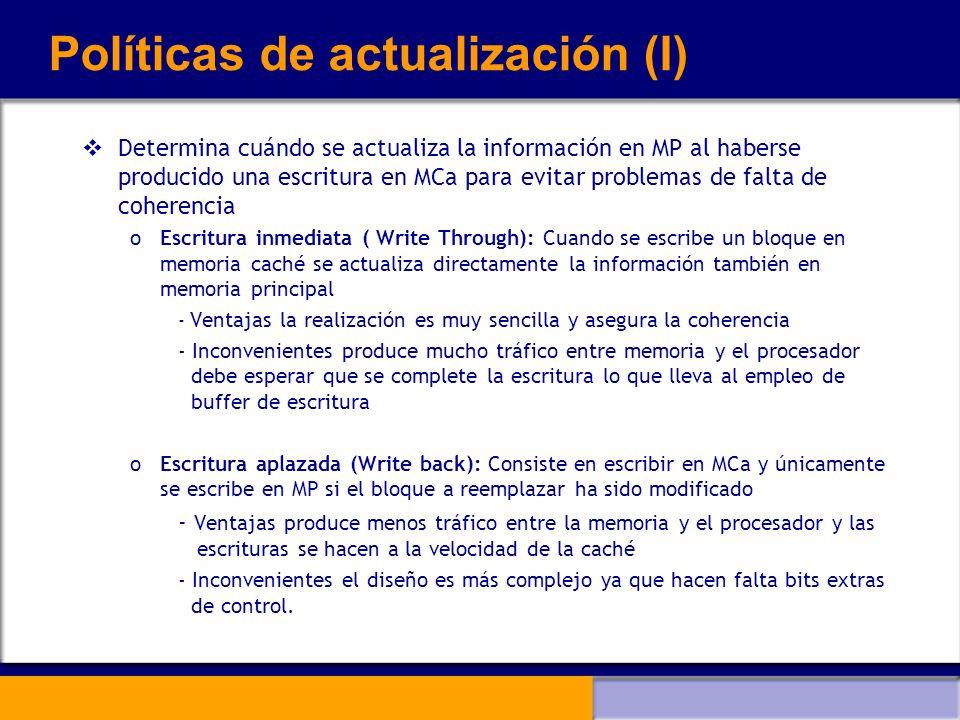 Políticas de actualización (I)