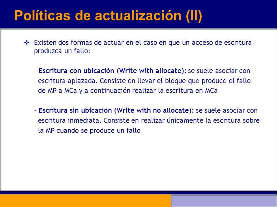 Políticas de actualización (II)