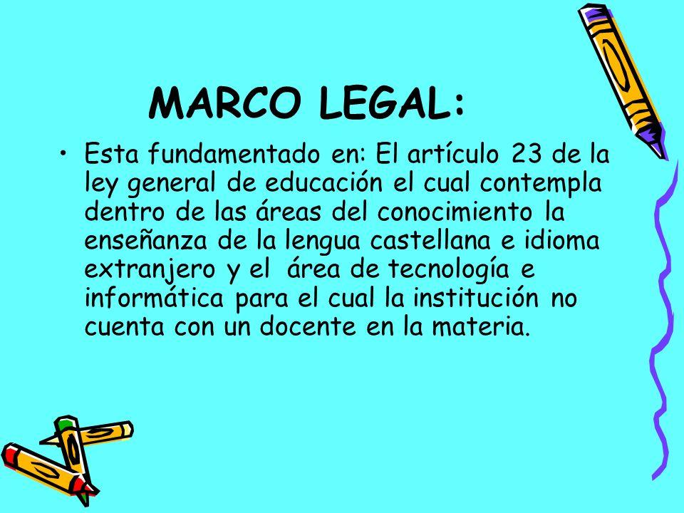MARCO LEGAL: