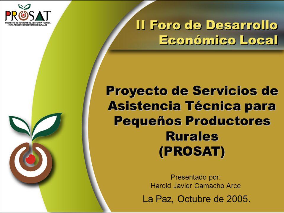 Proyecto de Servicios de Asistencia Técnica para Pequeños Productores
