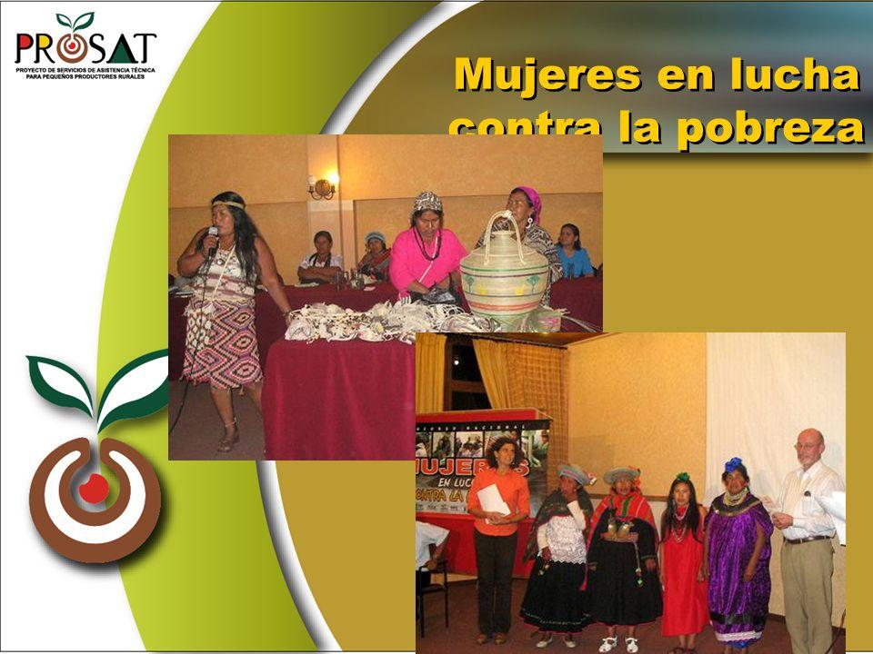 Mujeres en lucha contra la pobreza