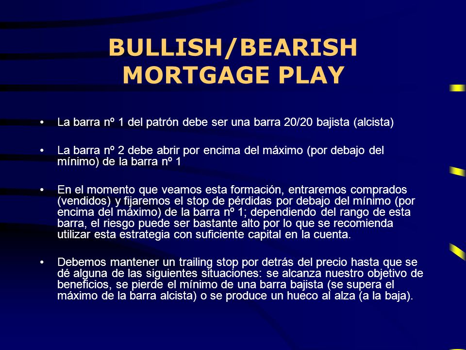 BULLISH/BEARISH MORTGAGE PLAY