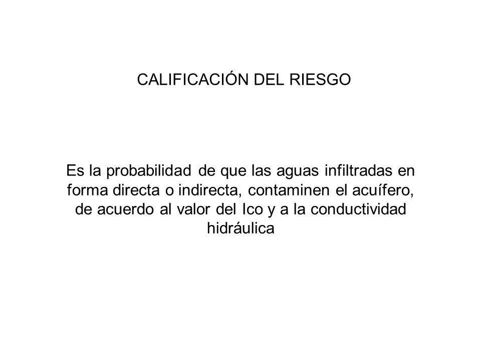 CALIFICACIÓN DEL RIESGO