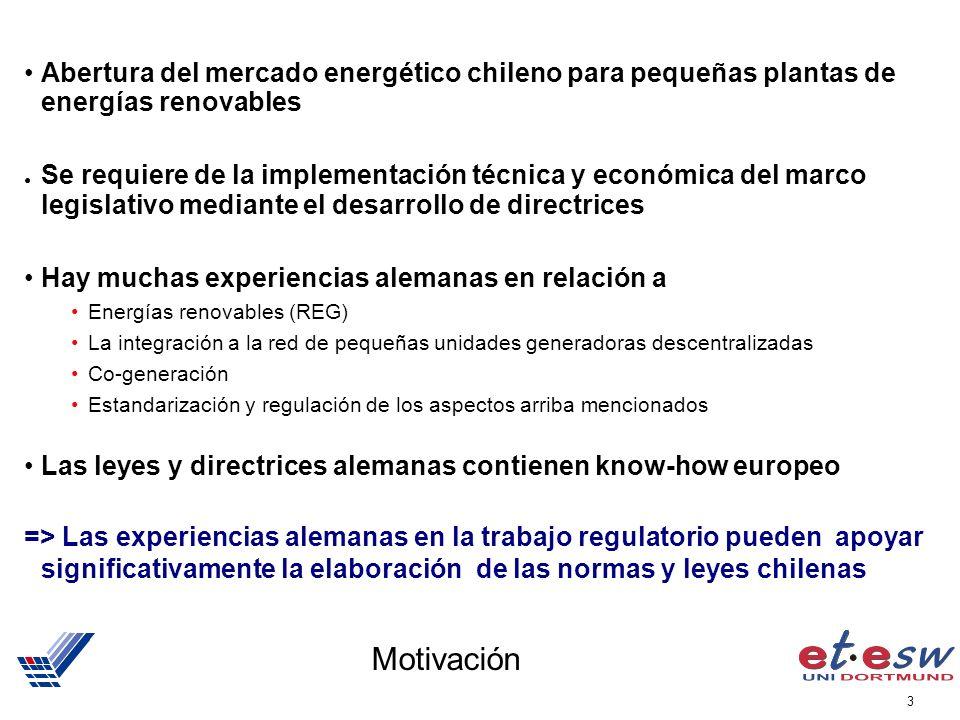 Abertura del mercado energético chileno para pequeñas plantas de energías renovables