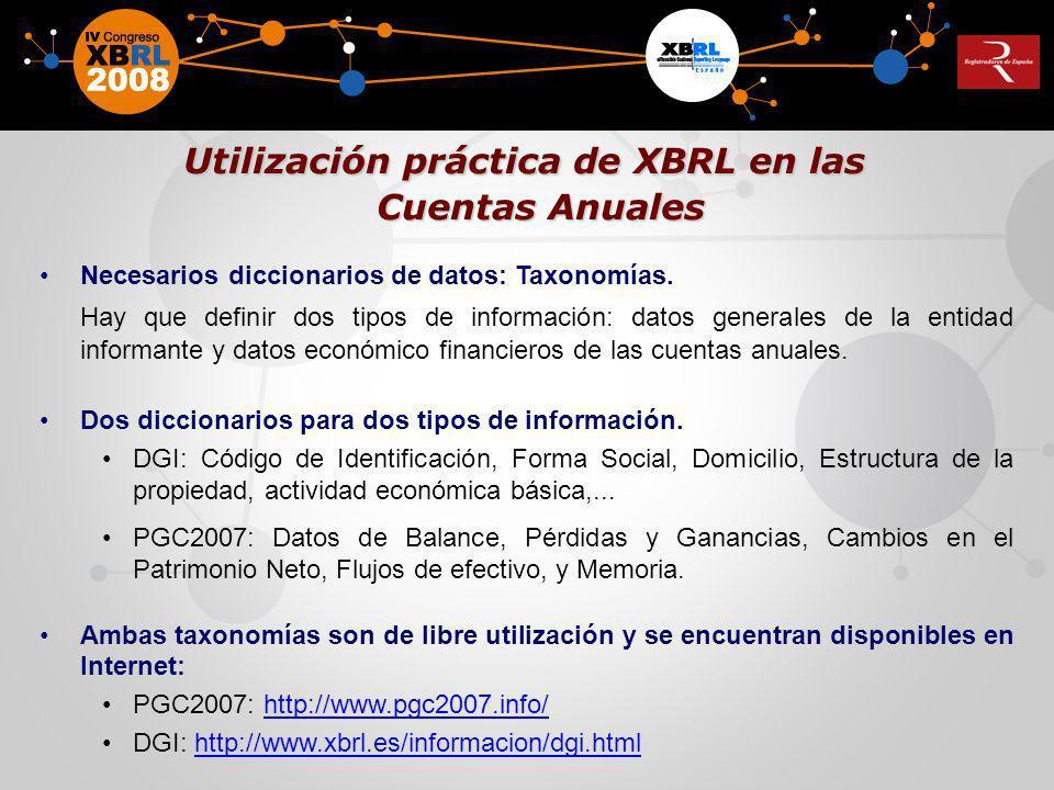 Utilización práctica de XBRL en las
