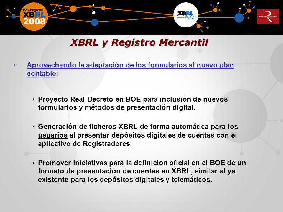 XBRL y Registro Mercantil