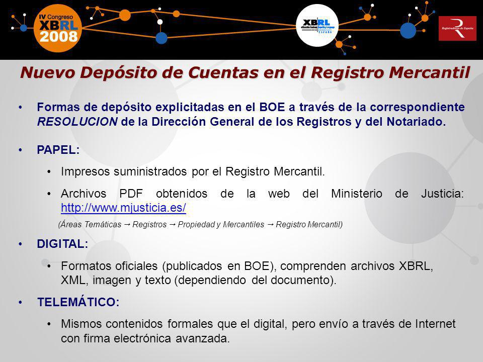 Nuevo Depósito de Cuentas en el Registro Mercantil
