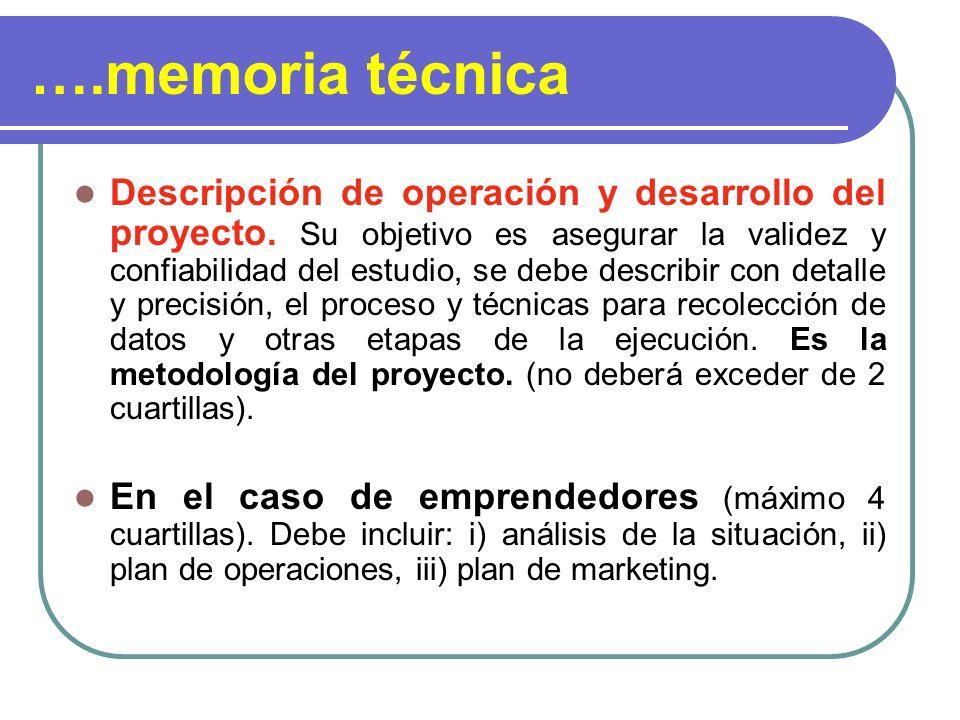 ….memoria técnica