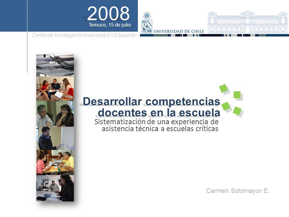 2008 Desarrollar competencias docentes en la escuela