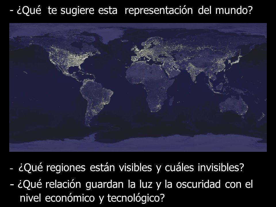 - ¿Qué te sugiere esta representación del mundo