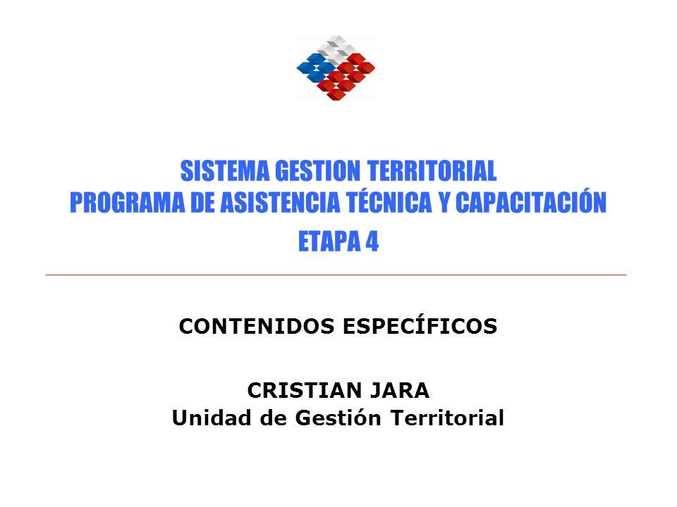 CONTENIDOS ESPECÍFICOS CRISTIAN JARA Unidad de Gestión Territorial