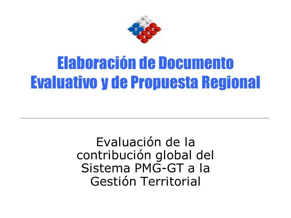 Elaboración de Documento Evaluativo y de Propuesta Regional