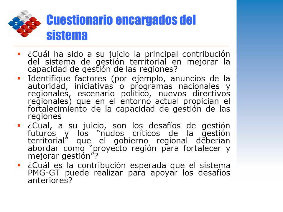 Cuestionario encargados del sistema