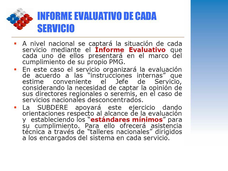 INFORME EVALUATIVO DE CADA SERVICIO