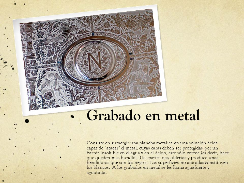 Grabado en metal