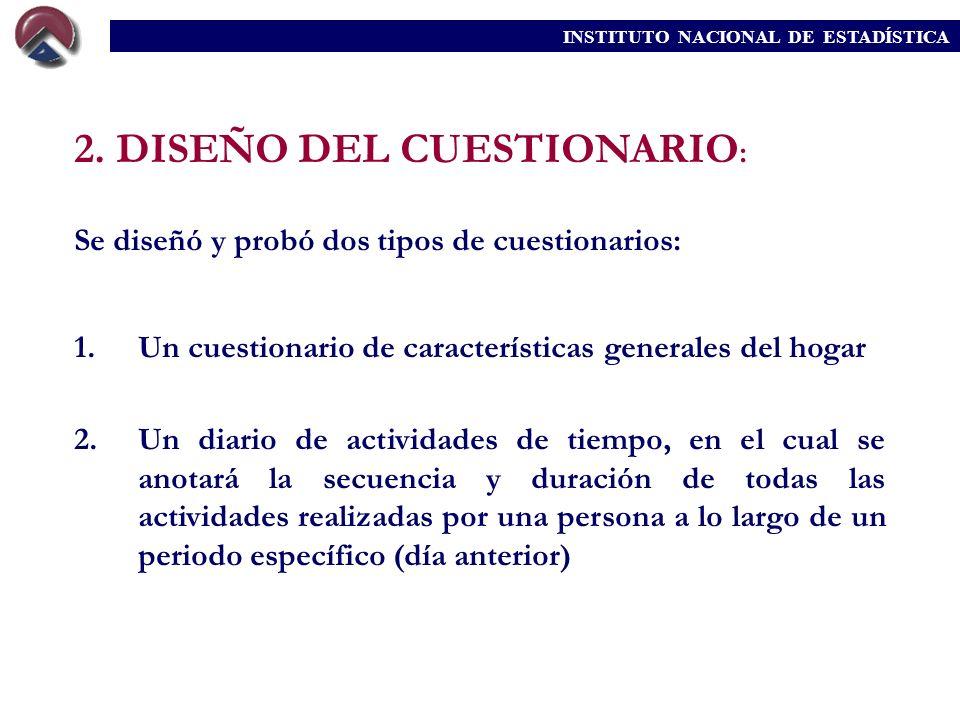 2. DISEÑO DEL CUESTIONARIO: