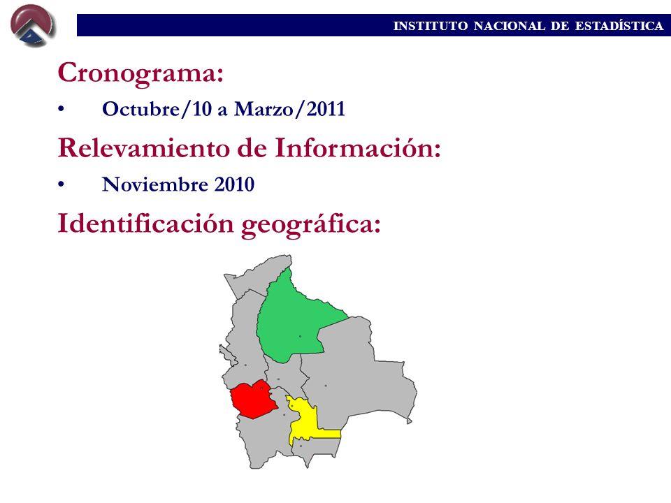 Relevamiento de Información: Identificación geográfica: