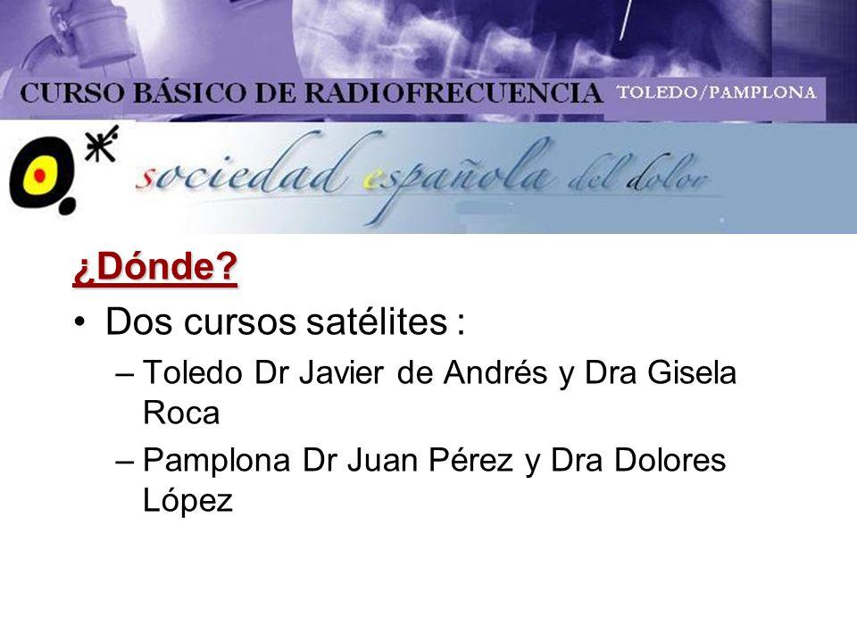¿Dónde Dos cursos satélites :