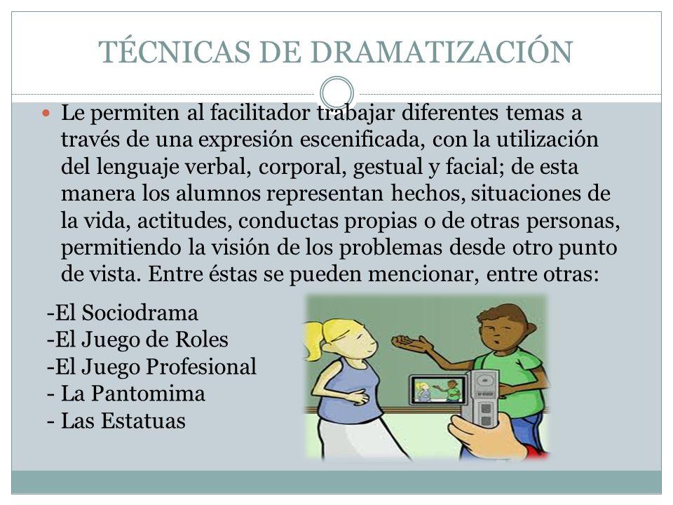 TÉCNICAS DE DRAMATIZACIÓN