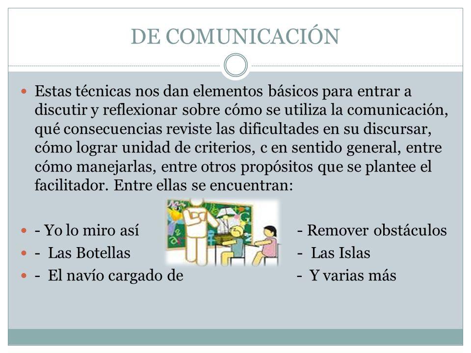 DE COMUNICACIÓN