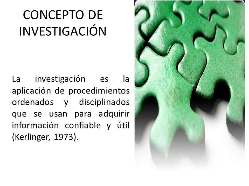 CONCEPTO DE INVESTIGACIÓN
