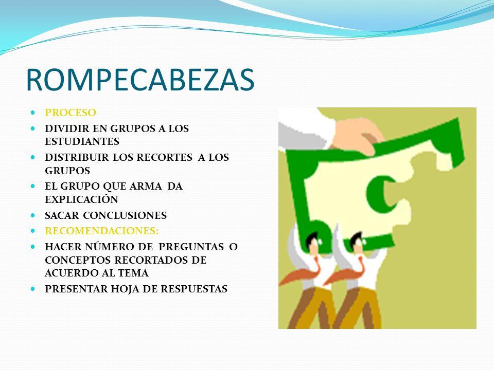 ROMPECABEZAS PROCESO DIVIDIR EN GRUPOS A LOS ESTUDIANTES