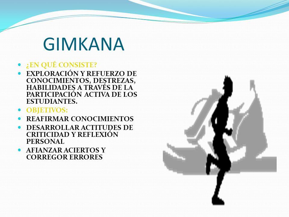 GIMKANA ¿EN QUÉ CONSISTE