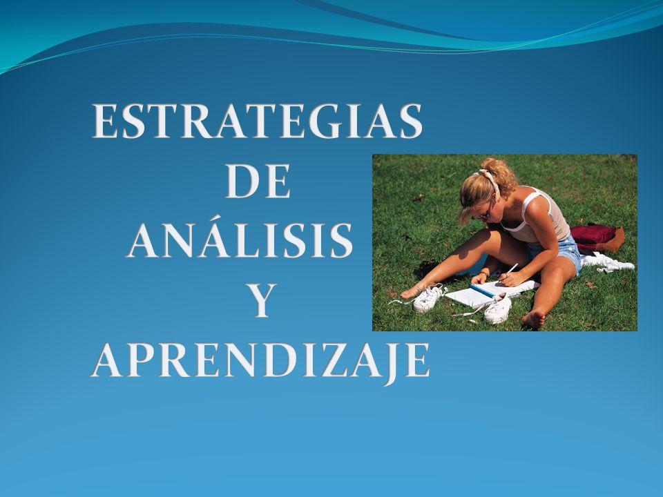 ESTRATEGIAS DE ANÁLISIS Y APRENDIZAJE