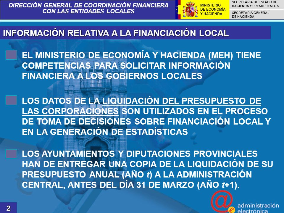 INFORMACIÓN RELATIVA A LA FINANCIACIÓN LOCAL