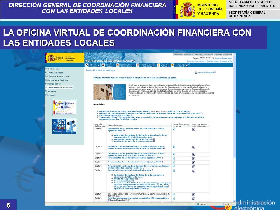 LA OFICINA VIRTUAL DE COORDINACIÓN FINANCIERA CON LAS ENTIDADES LOCALES