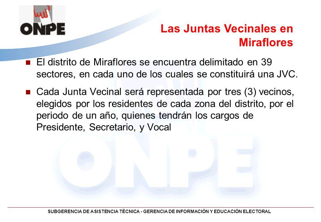 Las Juntas Vecinales en Miraflores