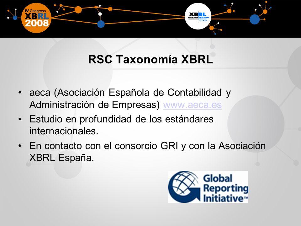 RSC Taxonomía XBRL aeca (Asociación Española de Contabilidad y Administración de Empresas) www.aeca.es.