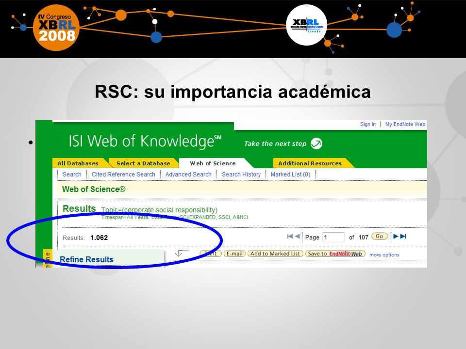 RSC: su importancia académica
