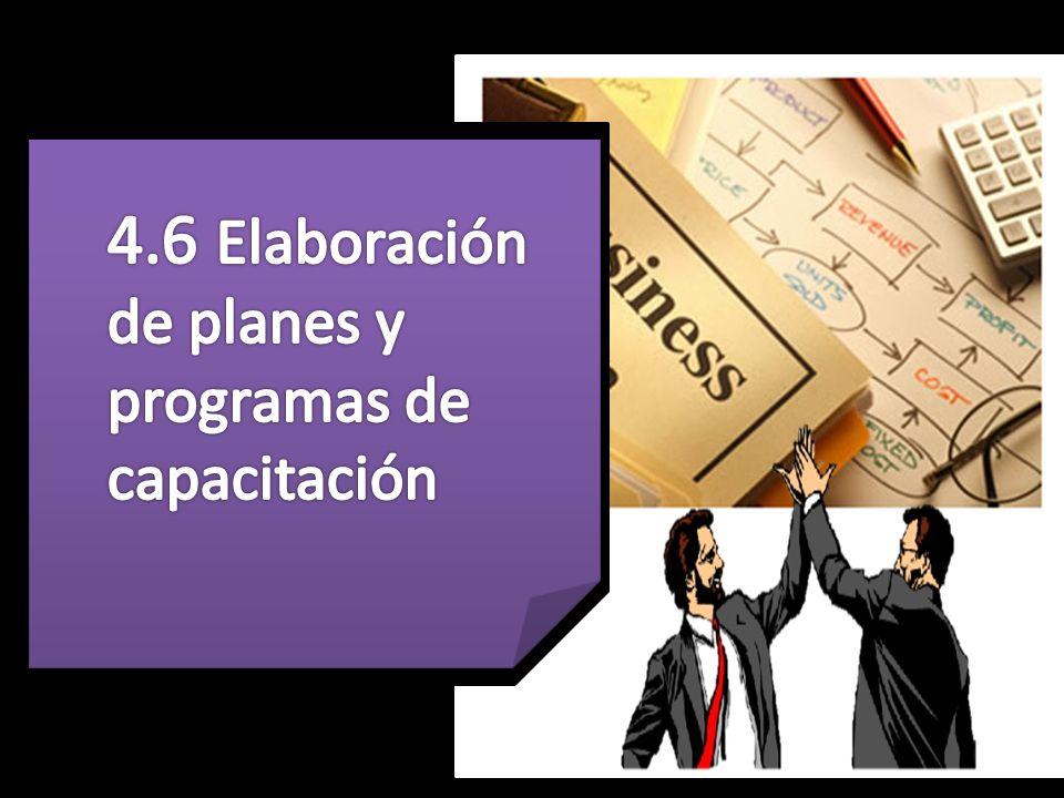 4.6 Elaboración de planes y programas de capacitación