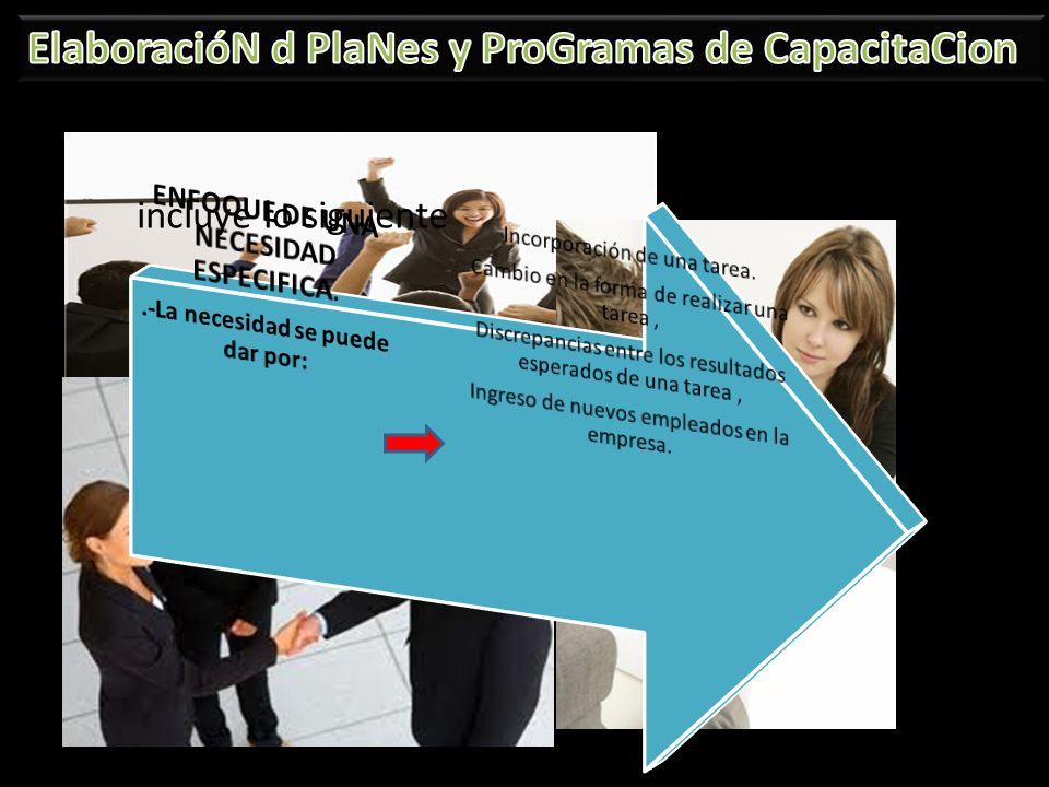 ENFOQUE DE UNA NECESIDAD ESPECIFICA. .-La necesidad se puede dar por: