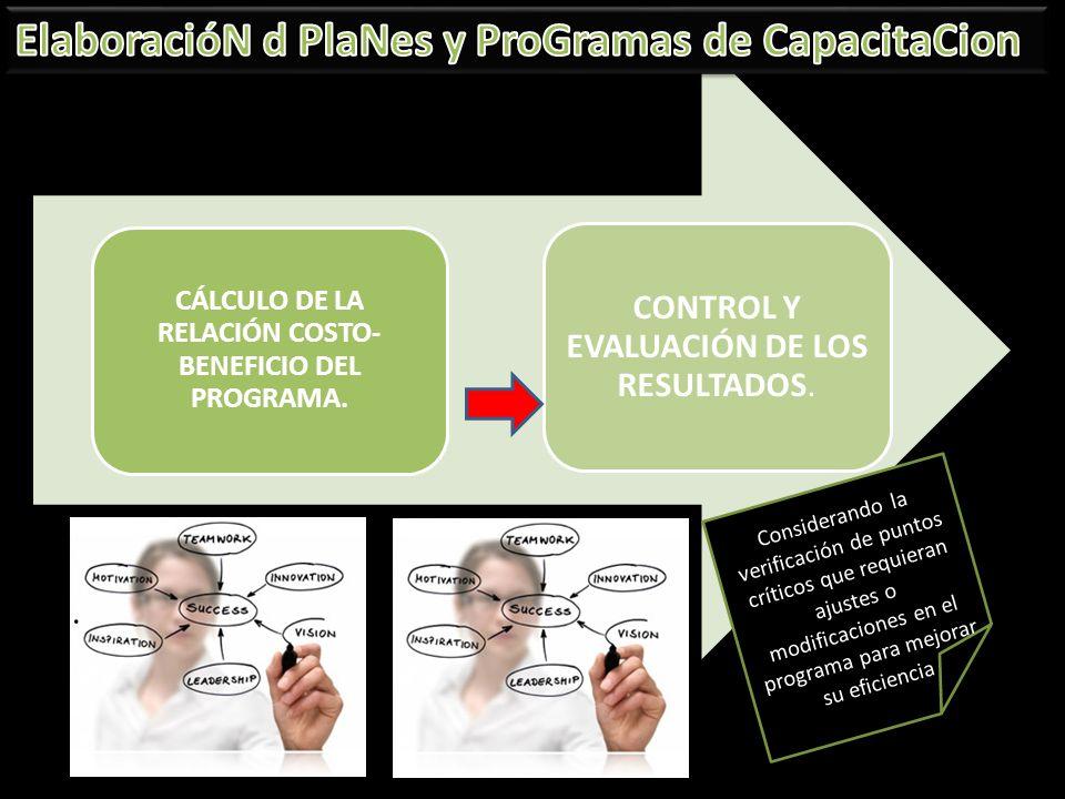 CÁLCULO DE LA RELACIÓN COSTO-BENEFICIO DEL PROGRAMA.