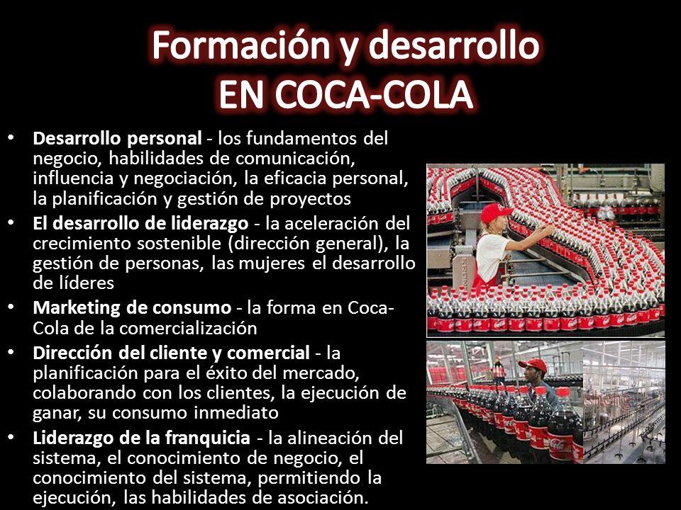 Formación y desarrollo EN COCA-COLA