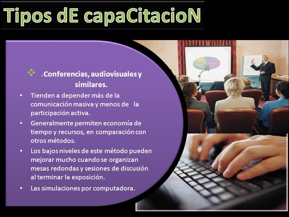 .Conferencias, audiovisuales y similares.