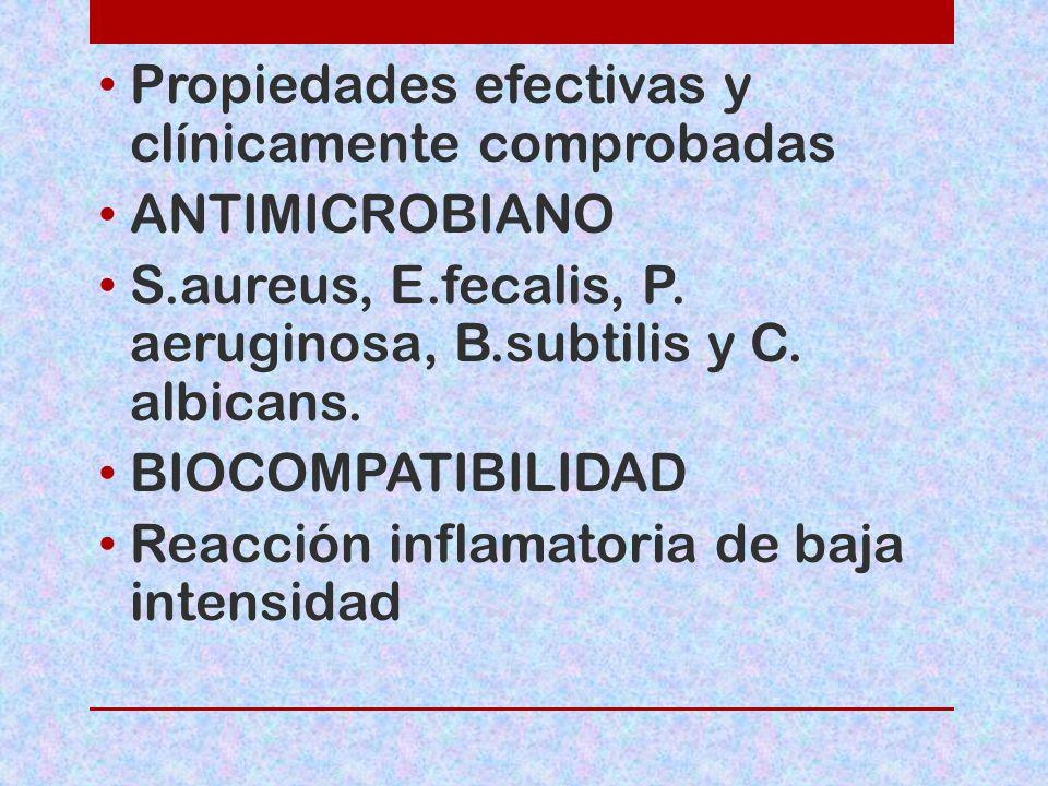 Propiedades efectivas y clínicamente comprobadas