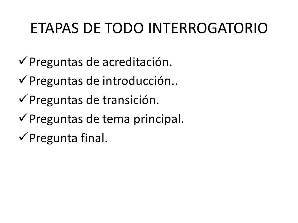 ETAPAS DE TODO INTERROGATORIO