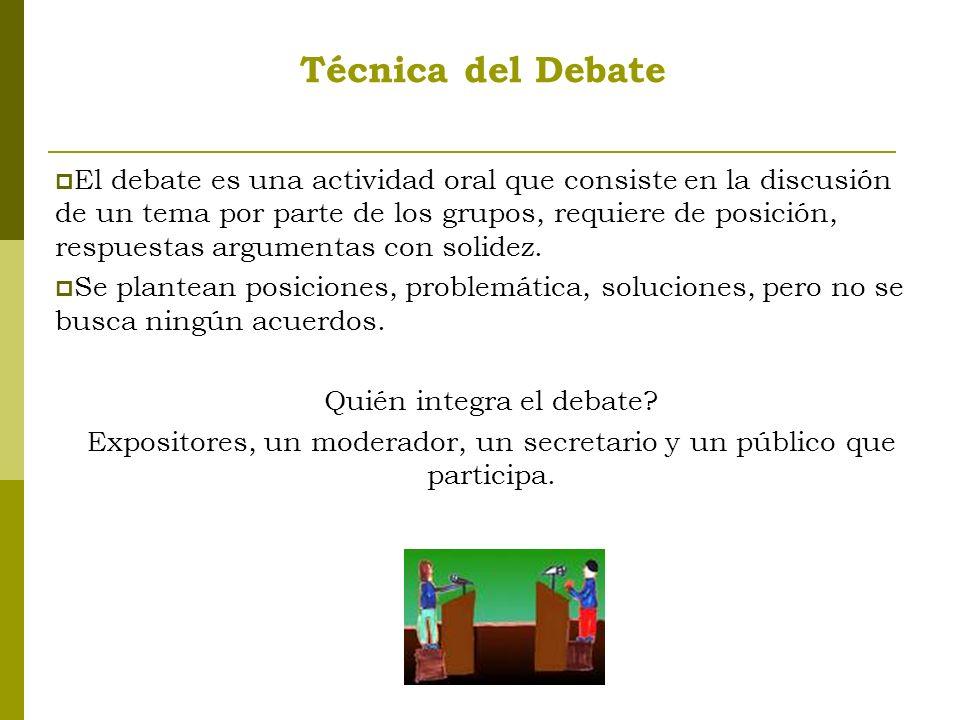 Técnica del Debate